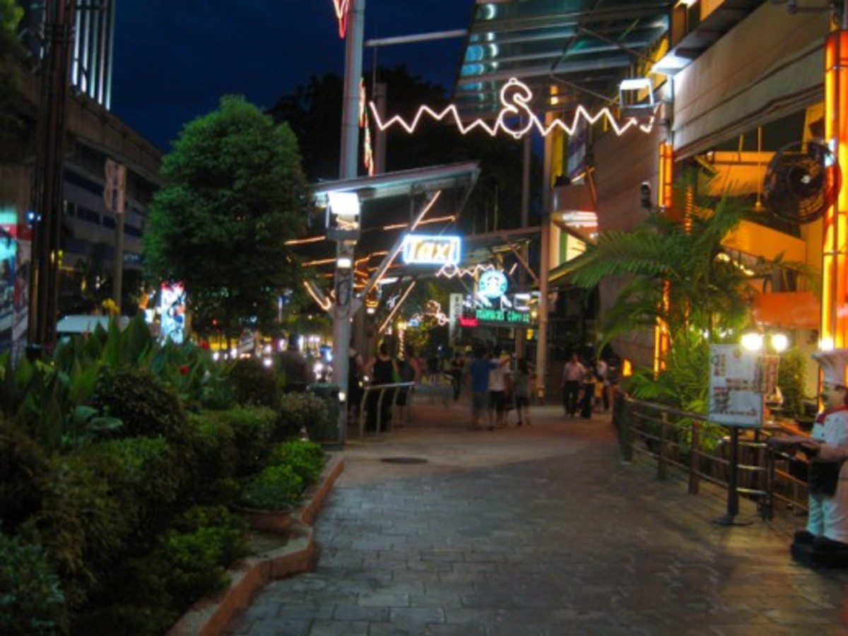 "A stroll along Bukit Bintang at night is a great way to see the sights. You'll find you can shop till late in the ""golden triangle"" of Kuala Lumpur."