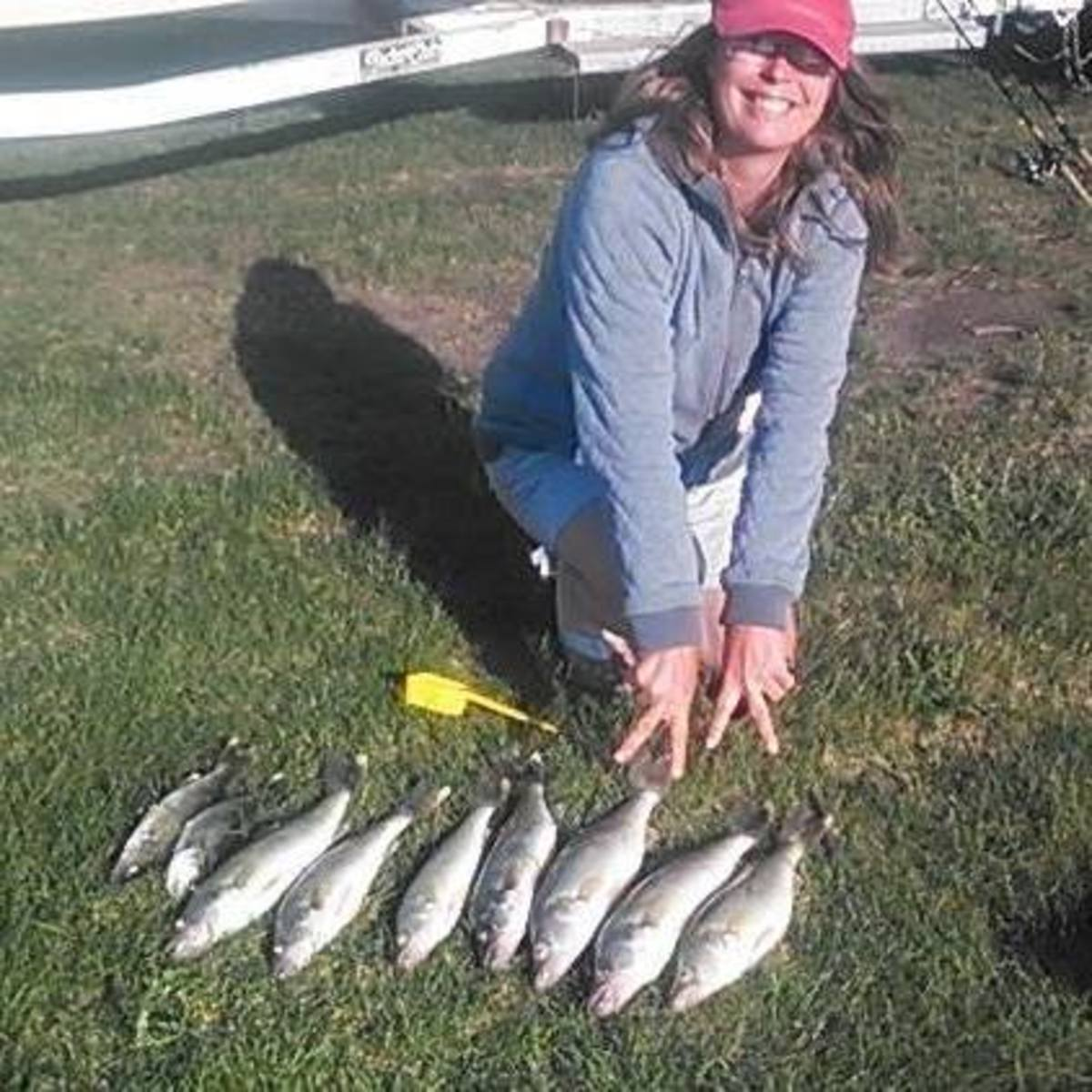Me and some fresh-caught North Dakota walleye.