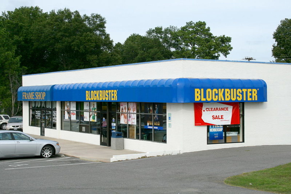 Typical Blockbuster Video store