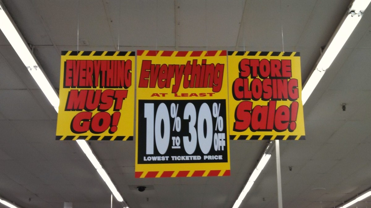 Find Bargains at Store Closing and Going Out of Business Sales