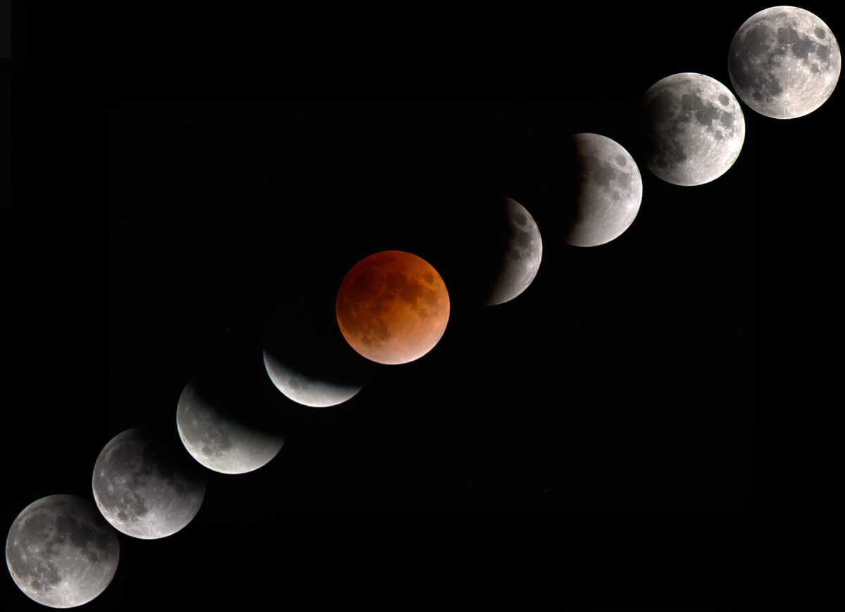Eclipse of the moon.