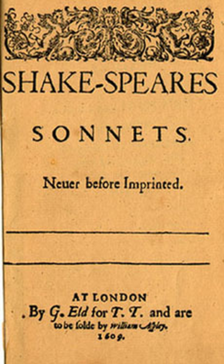 Title Sheet of the Sonnets, first published in 1609