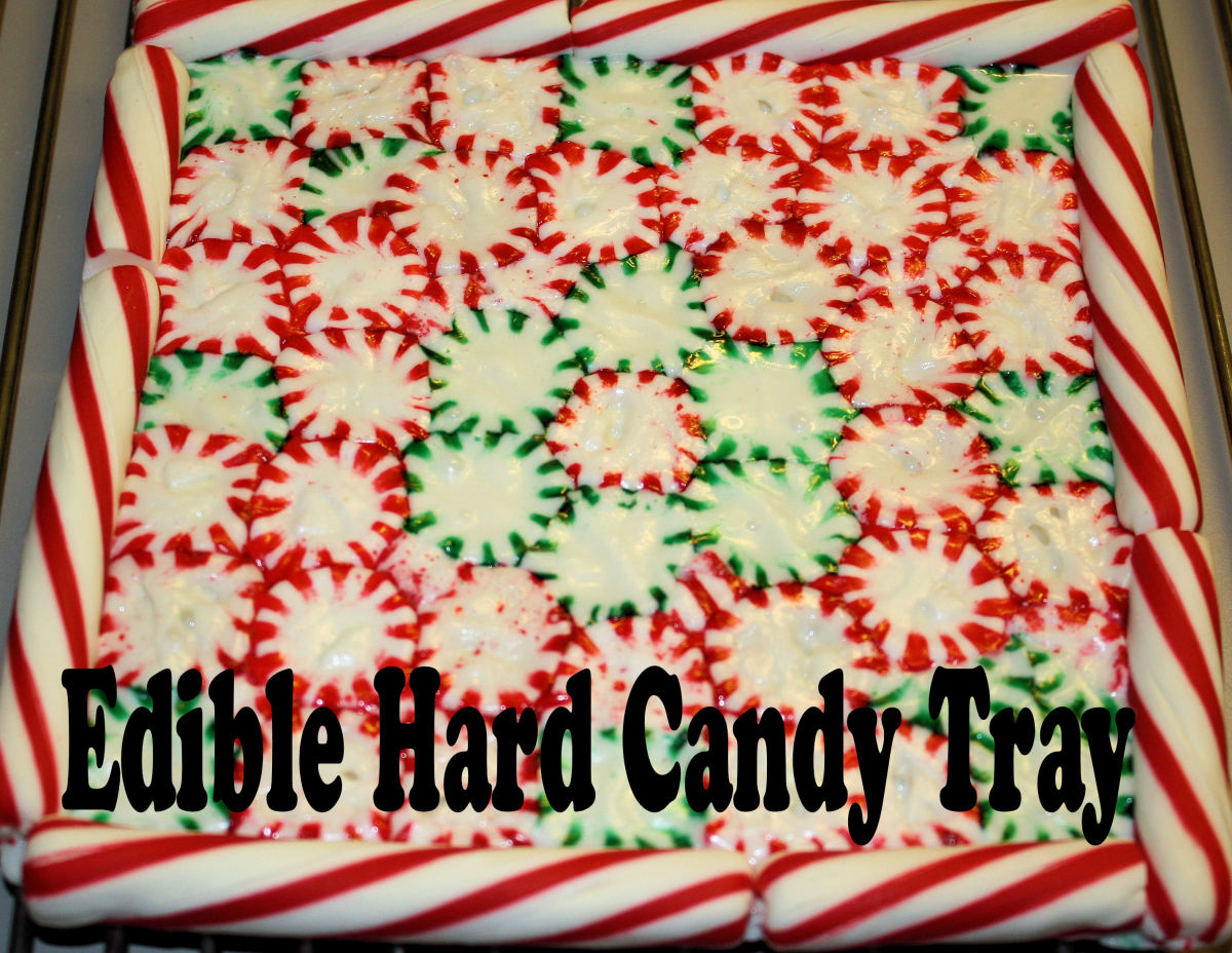 Edible Hard Candy Tray for Gifts