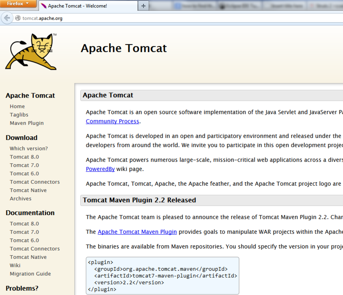 step 2 getting the downloading link of tomcat - Spring Pictures To Download