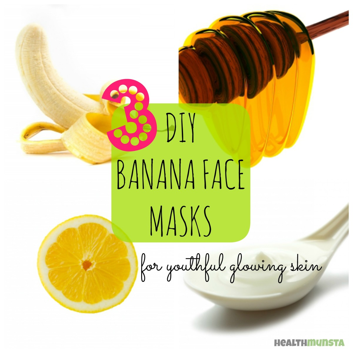 For glowing youthful skin, try these easy DIY banana face masks to make at home!