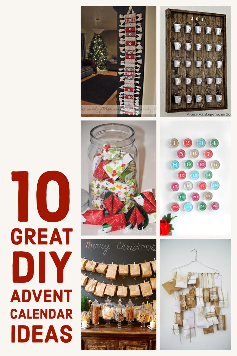 Great Calendar Ideas : Ten great diy advent calendar ideas holidappy