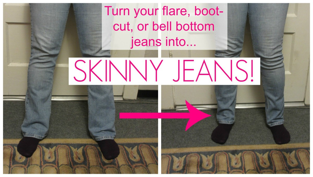 Turn Your Old Bell Bottoms, Bootcut, and Flare Jeans into Skinny Jeans