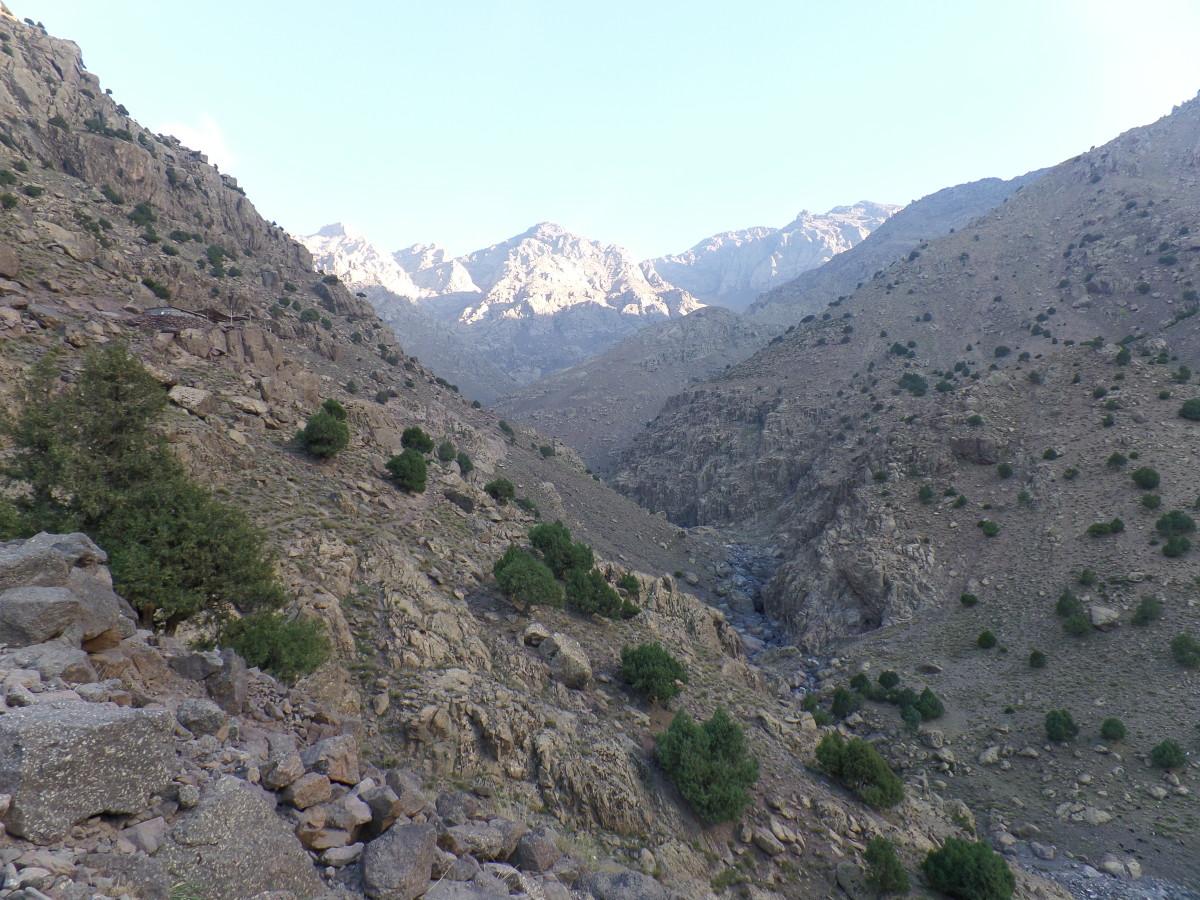 Kurt Morrison climbing Mount Toubkal