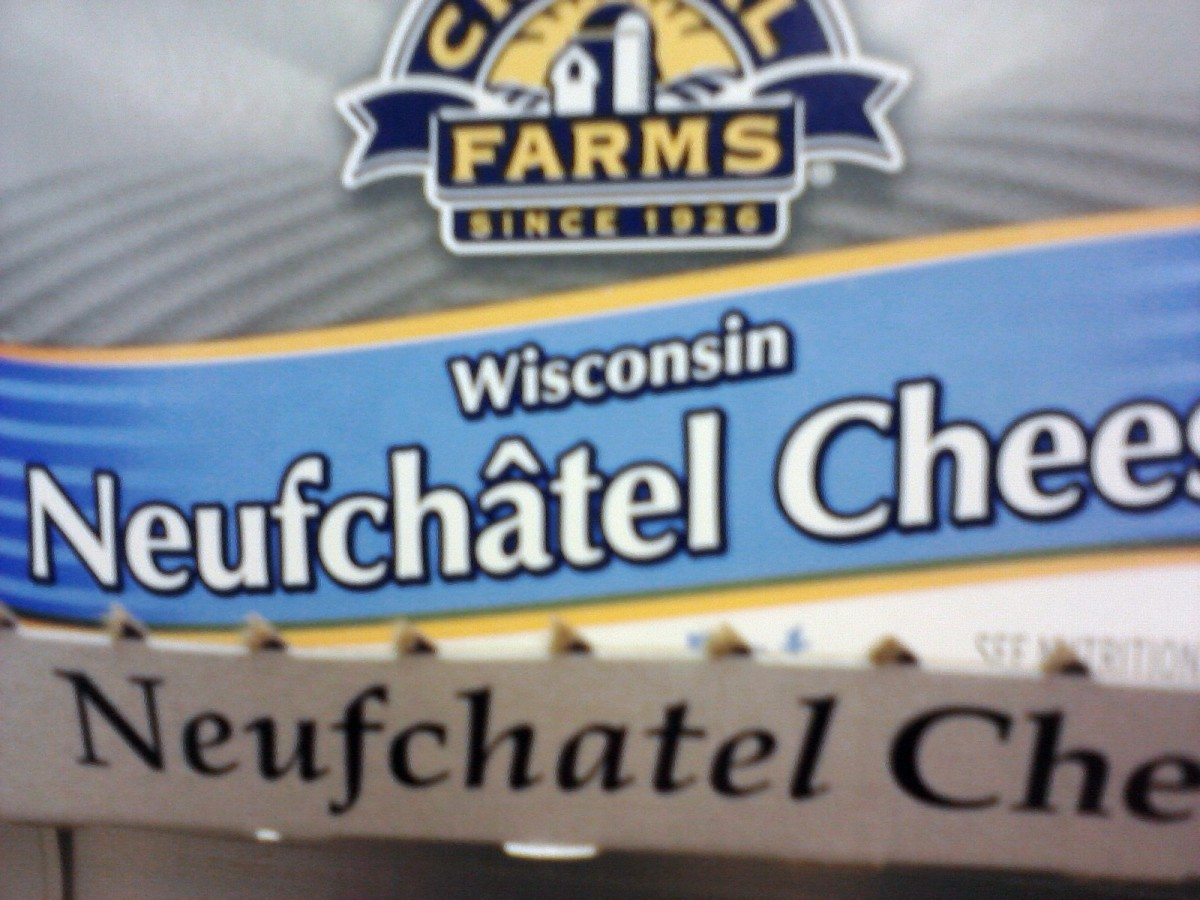 An example of Neufchatel cream cheese.