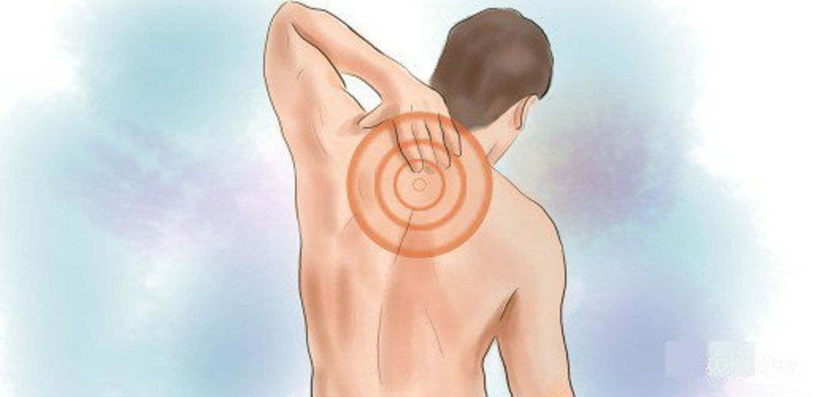What could be causing that sharp pain in the upper back between the shoulder blades?
