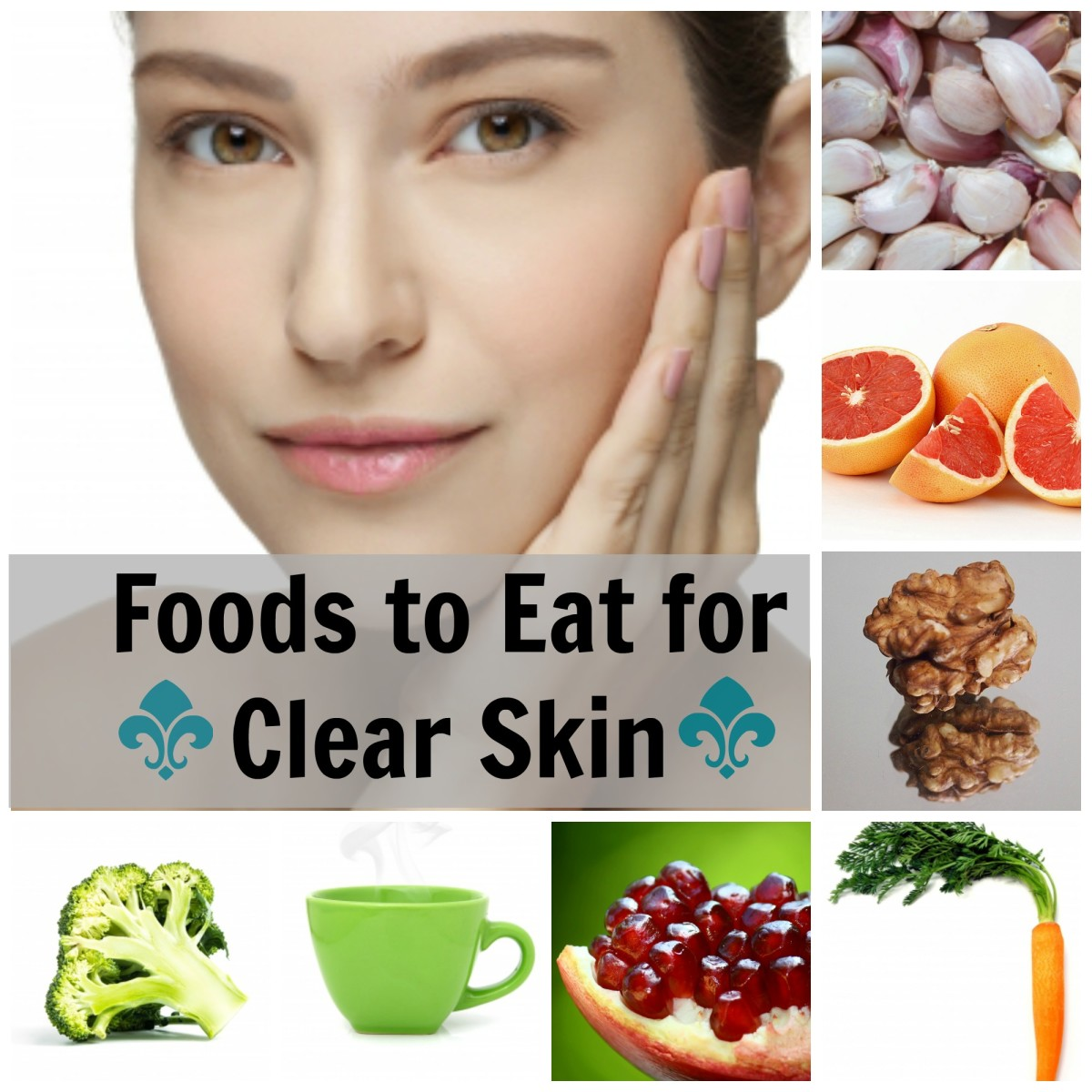 Eat your way to clear skin! Here are the top 15 foods you should add to your daily diet for clearer looking skin.