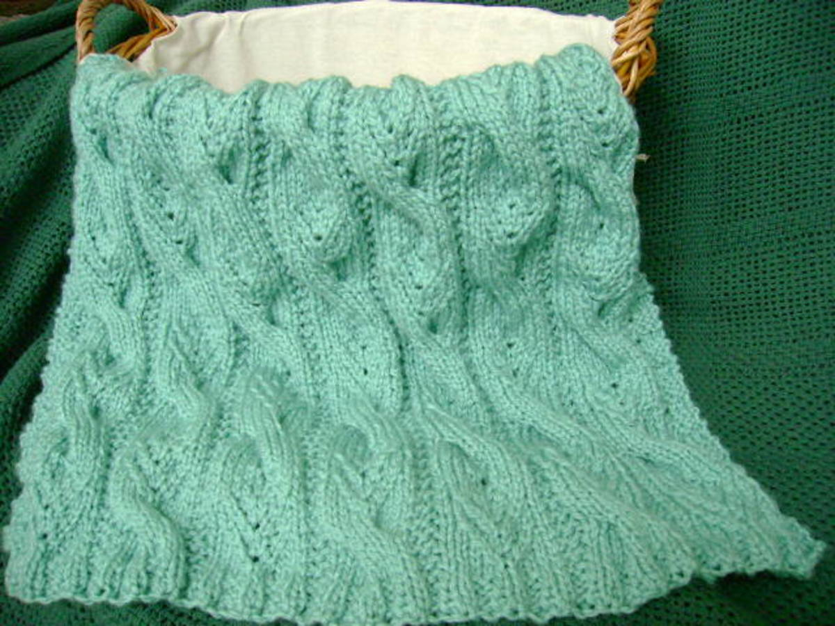 "Free Afghan Knitting Pattern:  ""Sweet Cables"" Baby Blanket"