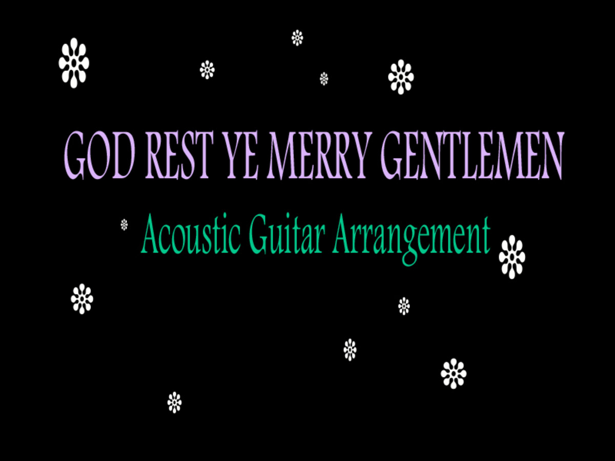 God Rest Ye Merry Gentlemen: Fingerstyle Guitar Tab, Notation and Audio