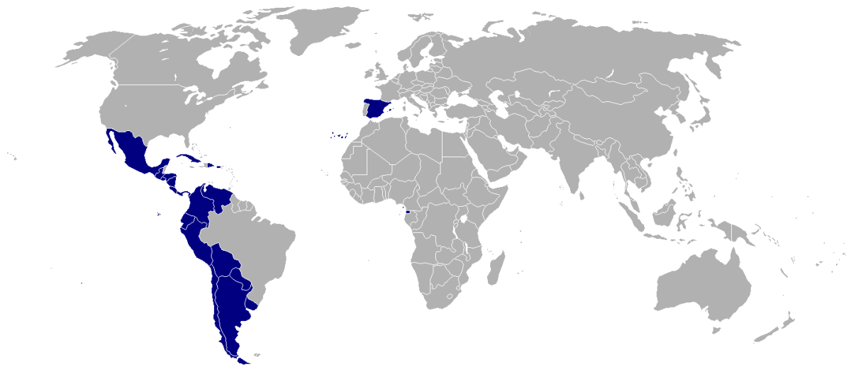 Spanish is the primary language for manycountries in Central and South America, as well as Spain. Although dialects do vary dependent on the area.