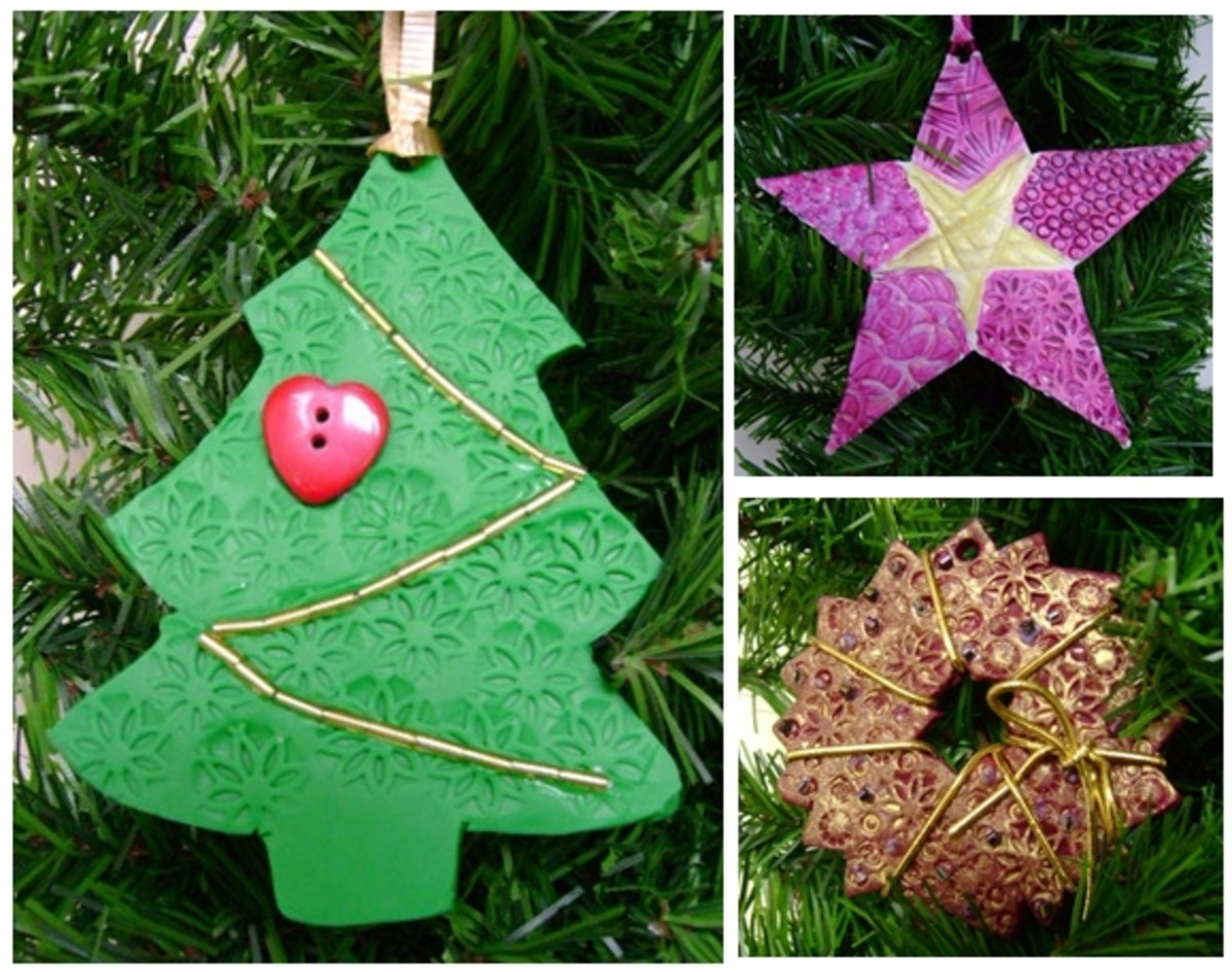 Easy Christmas Ornaments Made with Oven Bake Clay