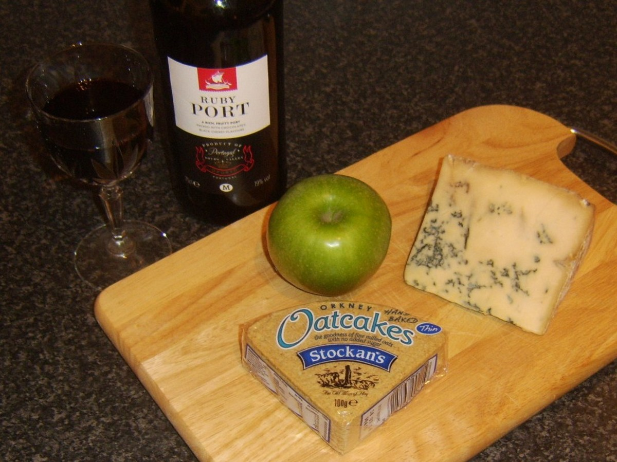 Port and Stilton cheese are perfect served simply together or with a wide selection of other possible accompaniments