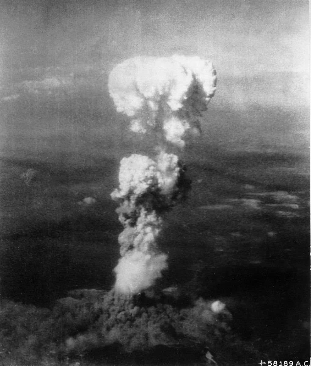 Atomic bomb over Hiroshima, Japan - August 6, 1945