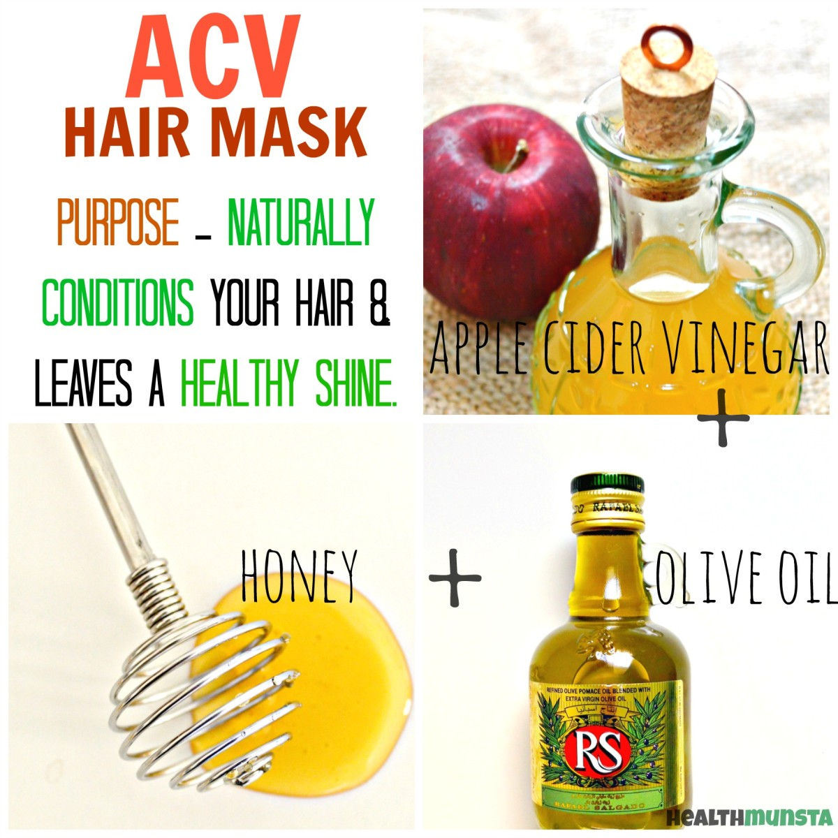 best diy apple cider vinegar (acv) hair mask mixes | bellatory