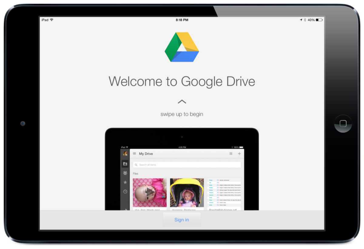 how to use google drive for ipad turbofuture