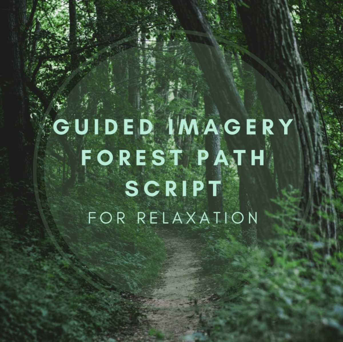 Guided imagery is an excellent technique for calming the mind.