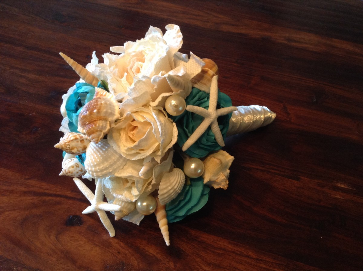 How To Make A Seashell Bridal Wedding Bouquet And Save Money