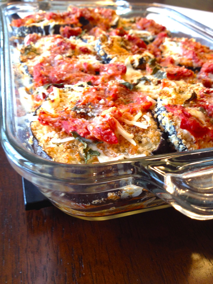 Light Eggplant Parmesan & Basic Tomato Sauce Recipe