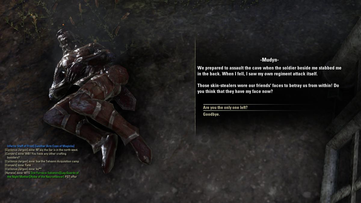 The Elder Scrolls Online Walkthrough - Stormhold: Trail of a Skin-Stealer, The Skin-Stealer's Lair