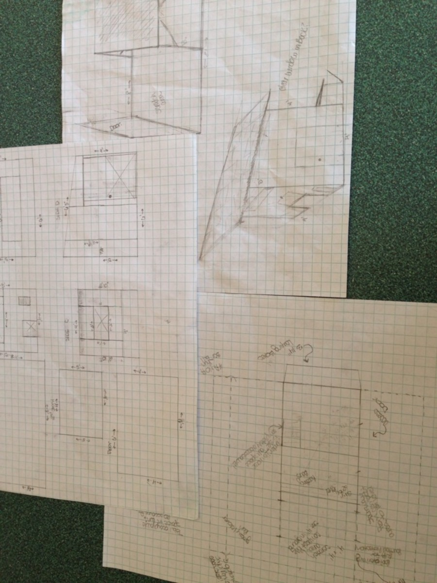 I made sketches to follow while constructing our coop