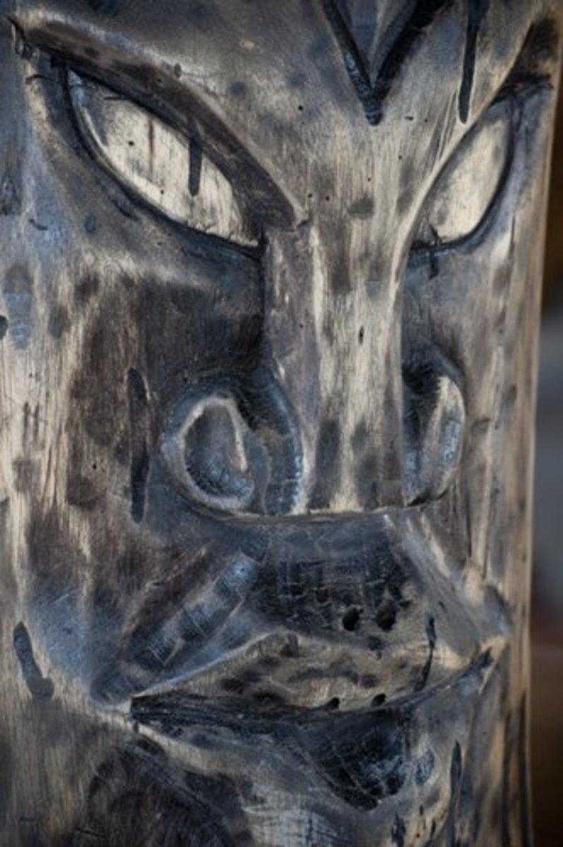 Wooden Totem Mask, Comayagua