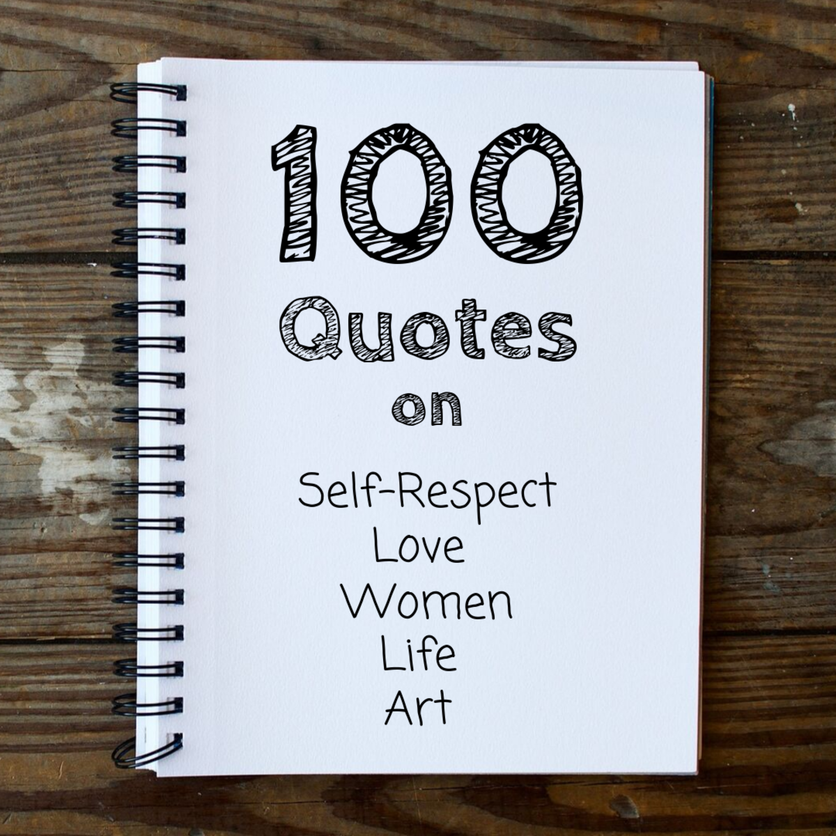 100 Best Quotes in My Notebook: Sayings on Art, Love, and More