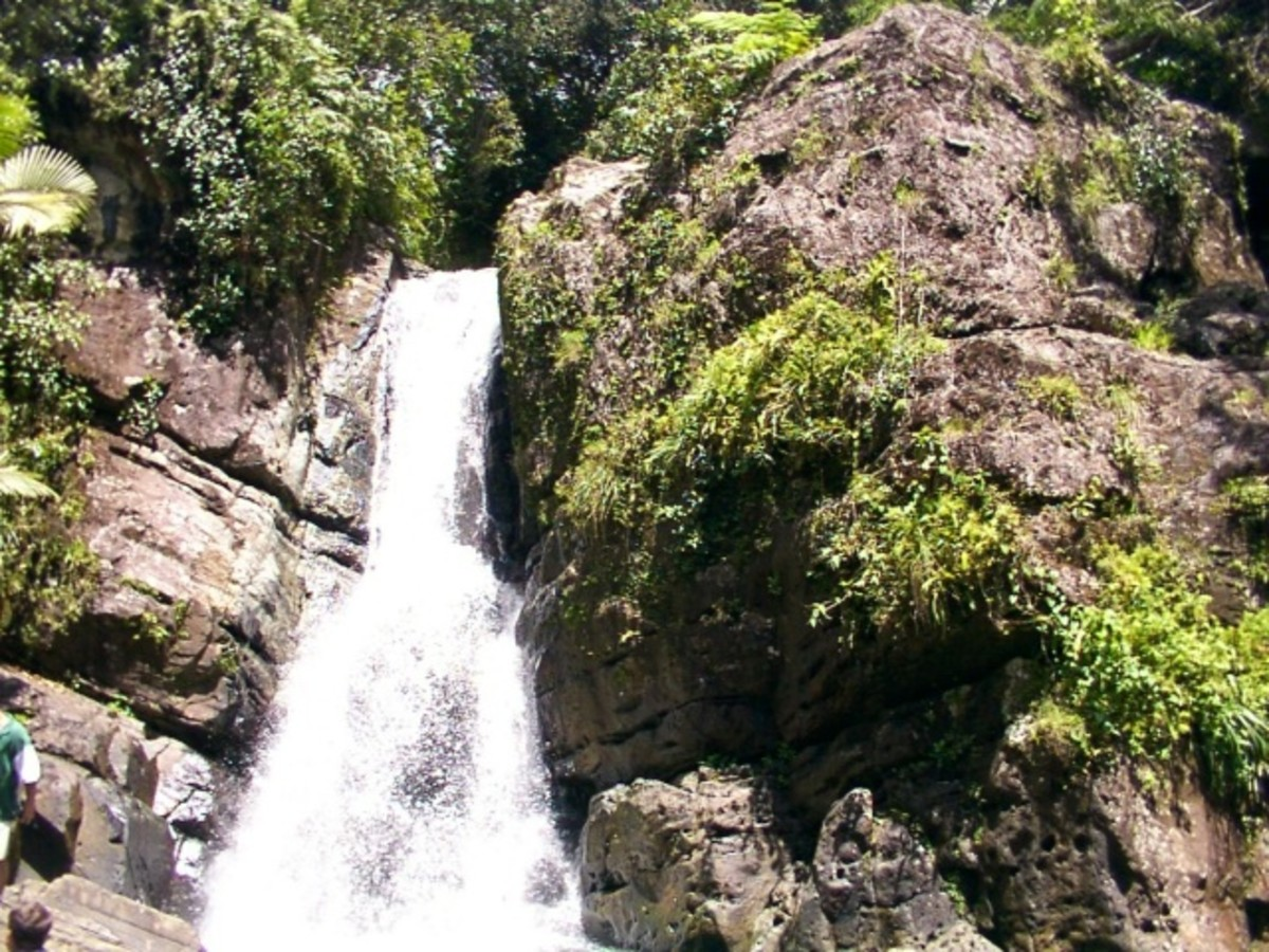 One of several waterfalls in the El Yunque Rainforest.