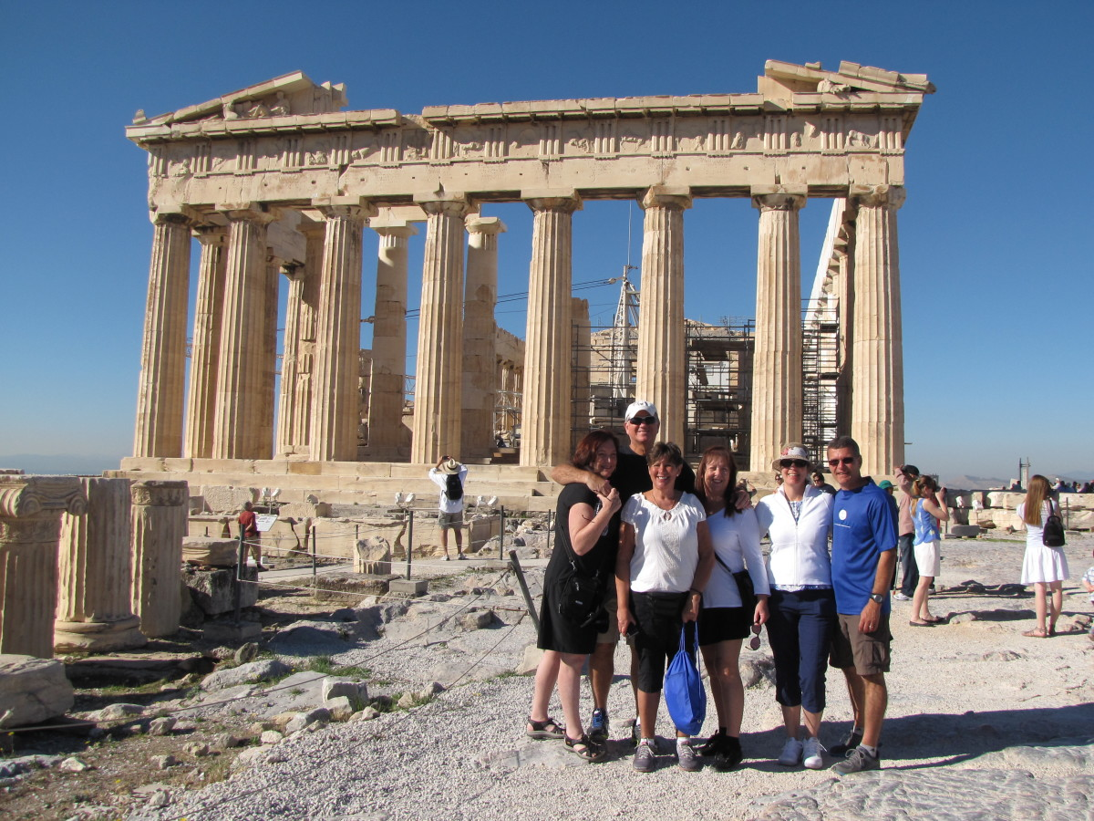 Our gang at the Parthenon