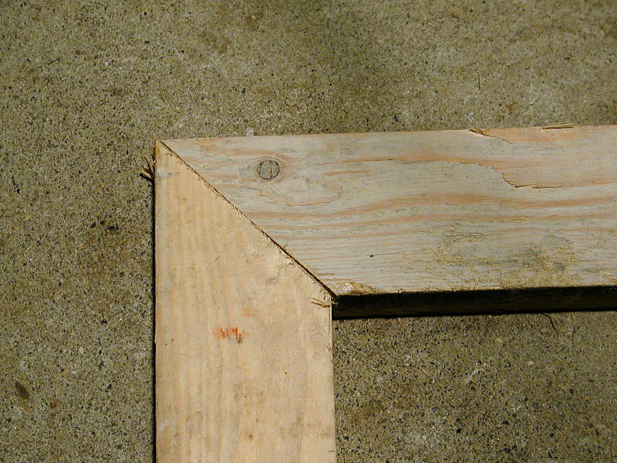 A miter box and tenon saw produced these results