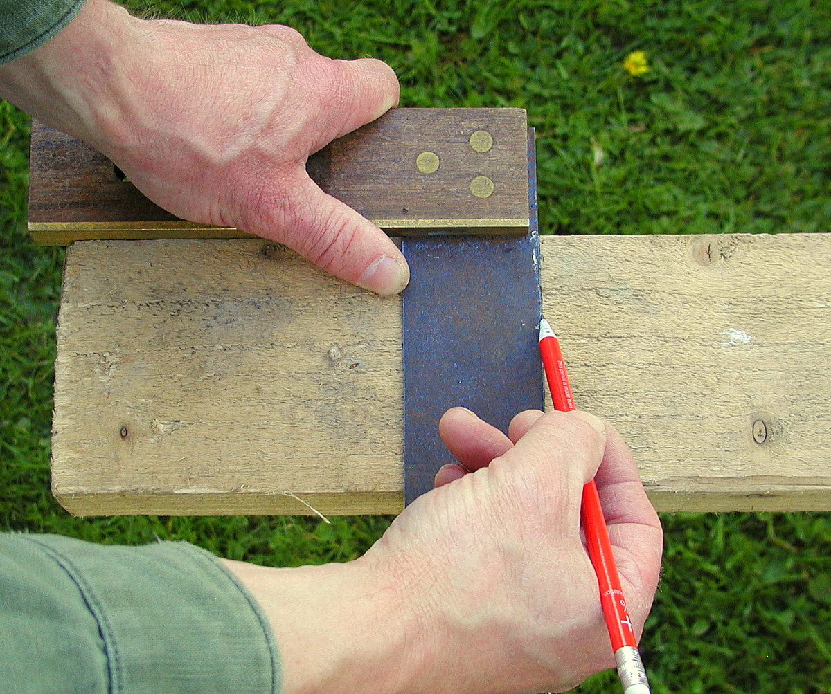 Use a square to produce a right angled pencil line guide
