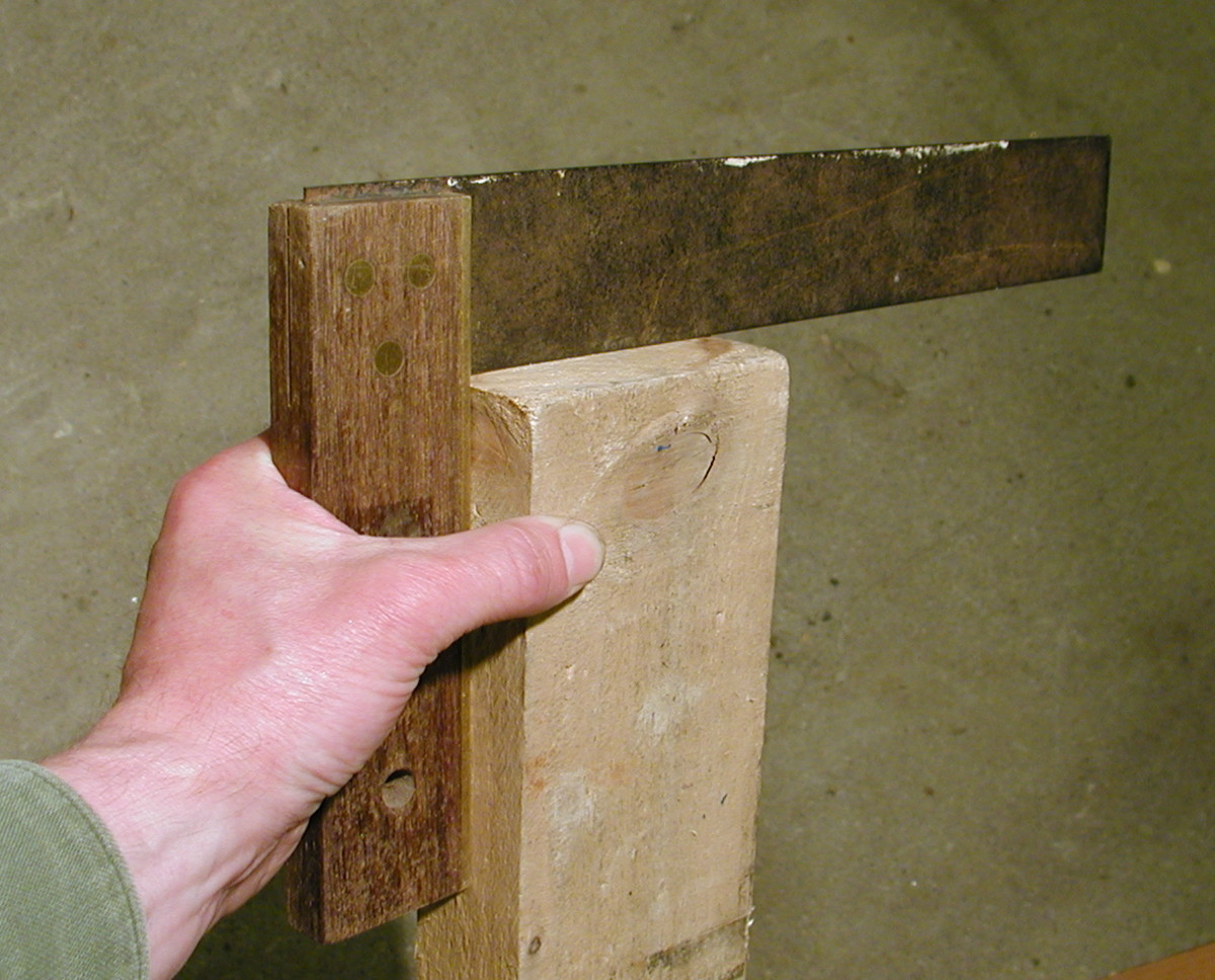 First check the end of the timber is square