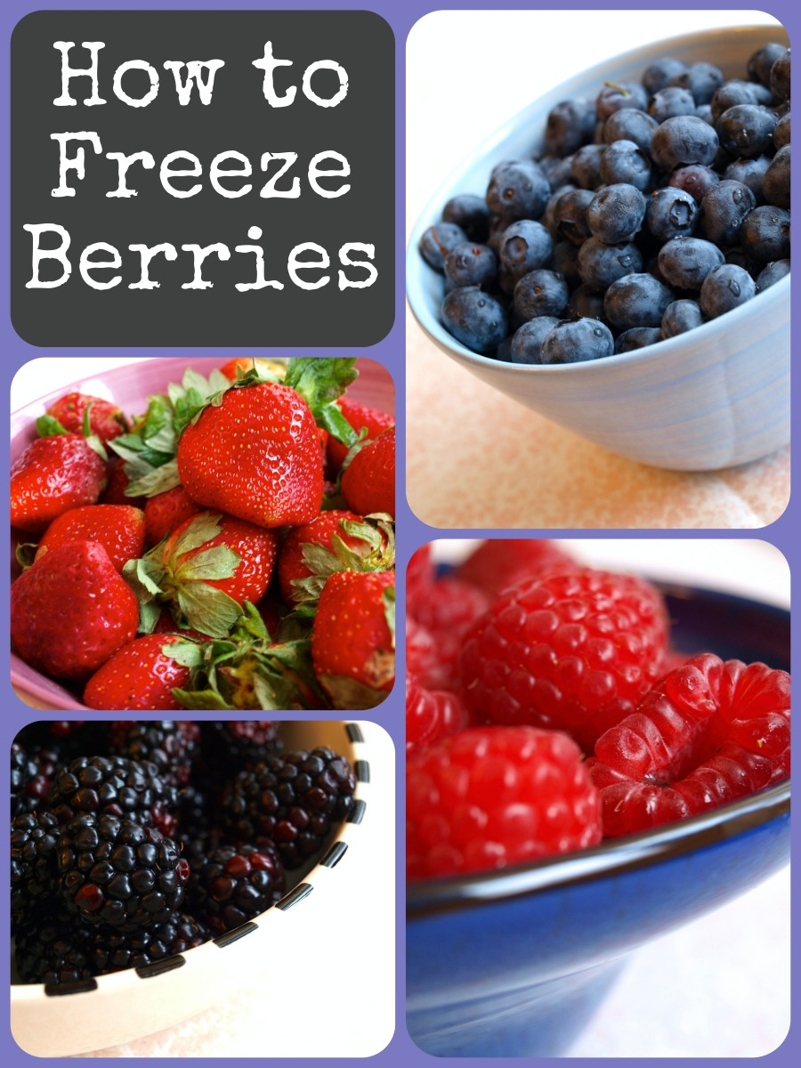 How to freeze berries, including blackberries, blueberries, cranberries, gooseberries, huckleberries, raspberries, and strawberries.