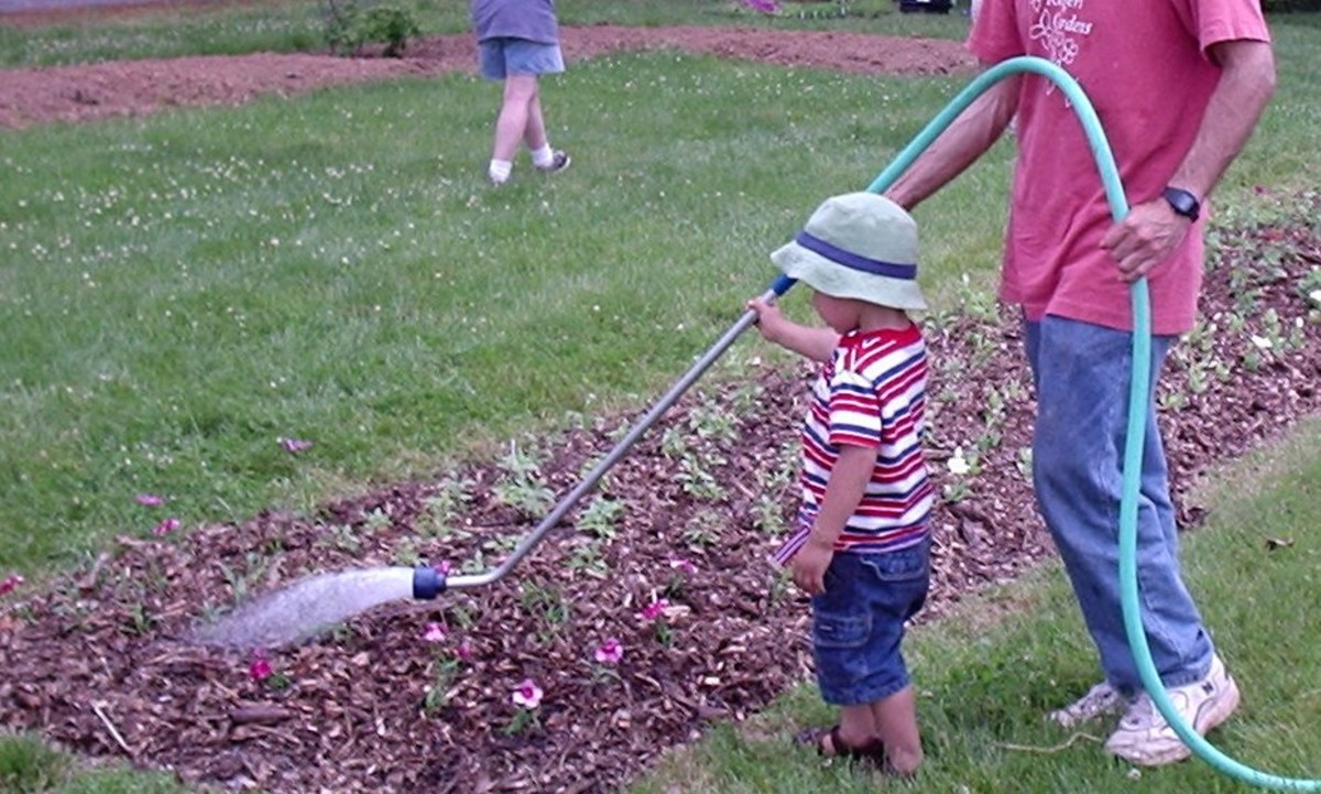 A watering wand allows you to water your plants at the roots without having to lean over.