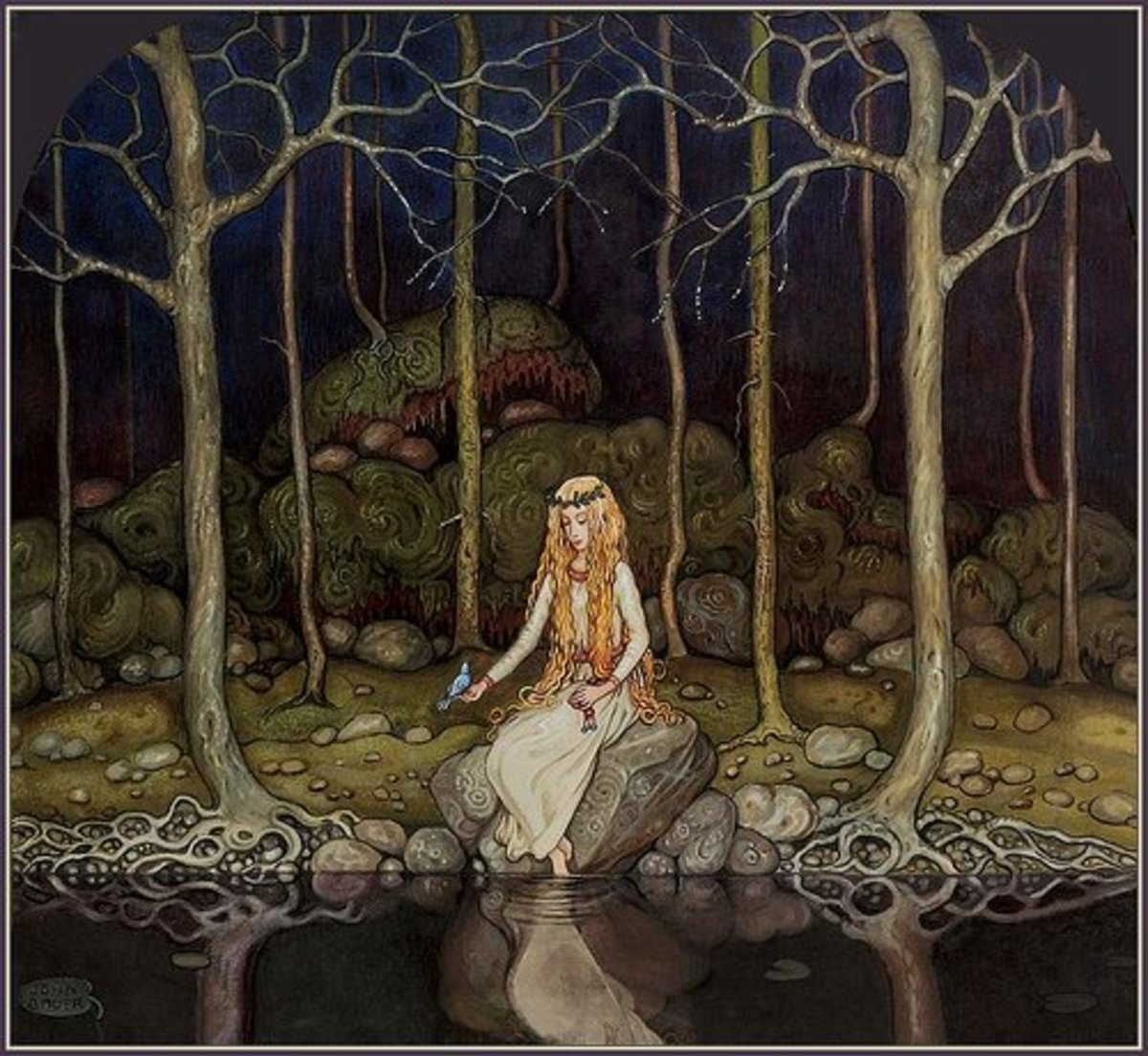 """""""The Princess in the Forest"""" by John Bauer"""