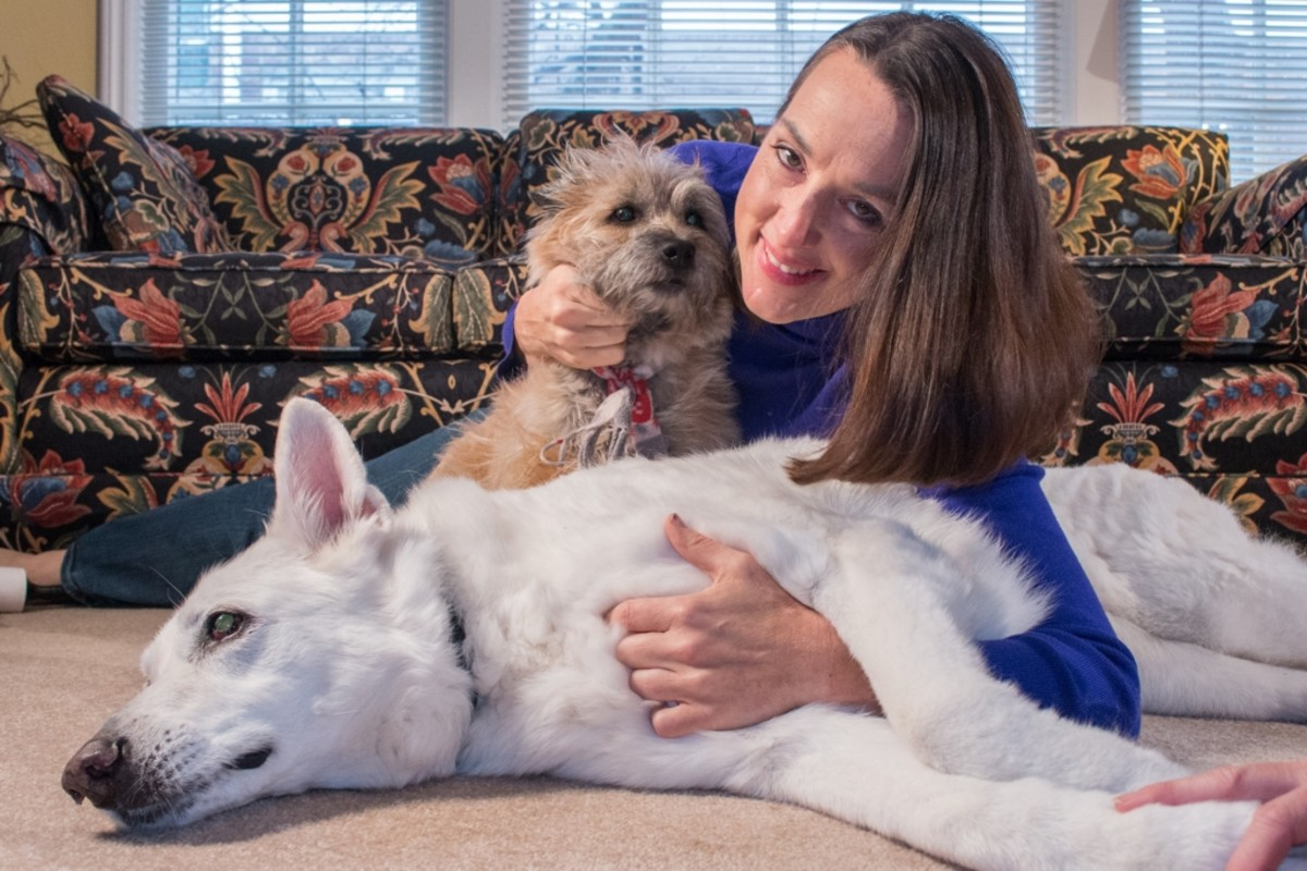 This is a photo of Dr. Cathy and her fur babies. As a pet parent, Dr. Cathy understands the importance of proper nutrition and preventive health routines.