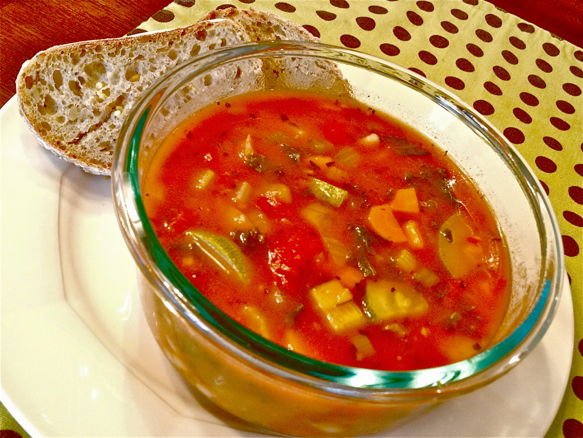 Recipe for Low-Sodium Vegetarian Minestrone Soup