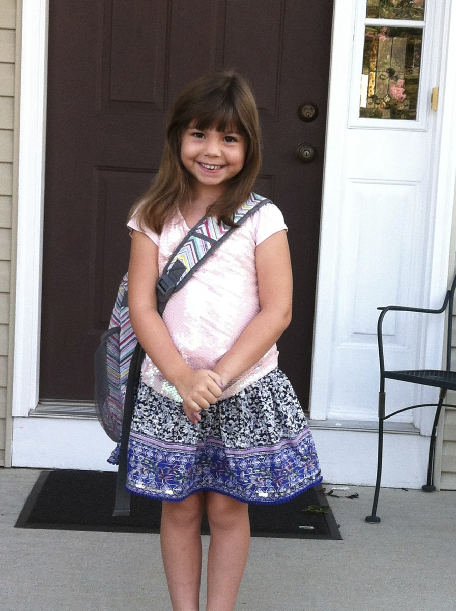 Being courageous and strong on the first day of school