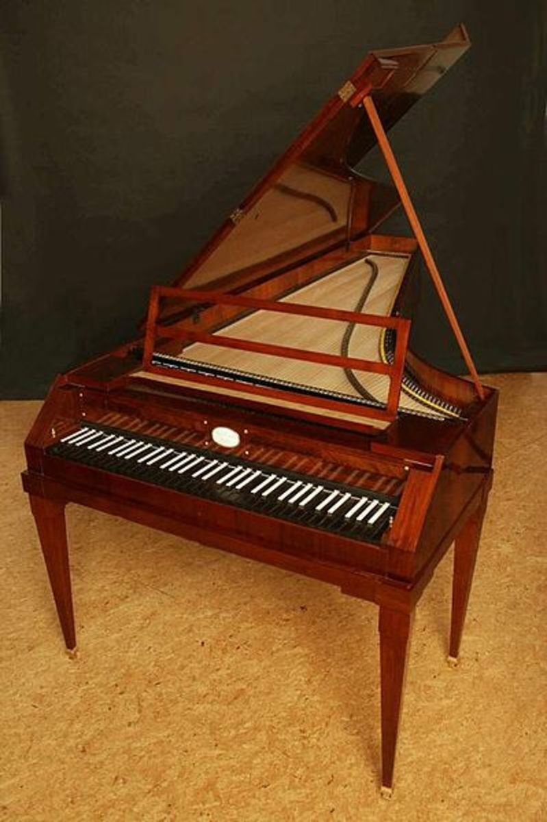 A reproduction of a typical fortepiano, the earliest version of the modern piano