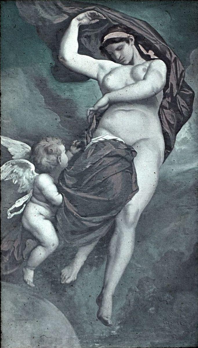 Anselm Feuerbach: Gaea (1875). Ceiling painting, Academy of Fine Arts Vienna PD-art-100