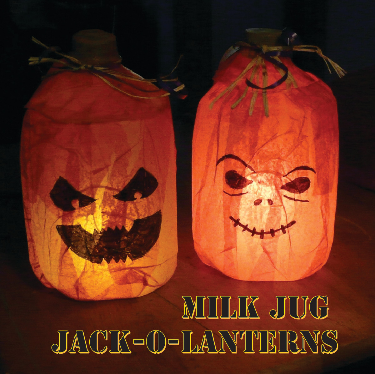 Milk Jug Jack-O-Lantern Halloween Craft
