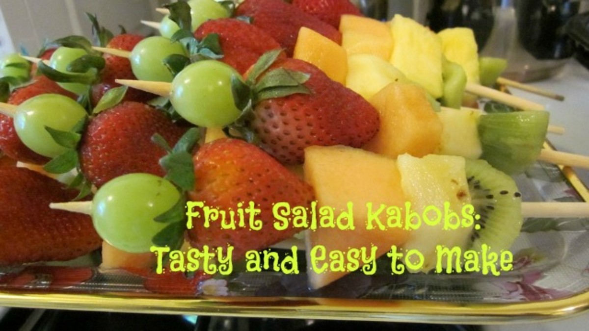 Fruit kabobs are a colorful alternative to traditional fruit salad served from a bowl.