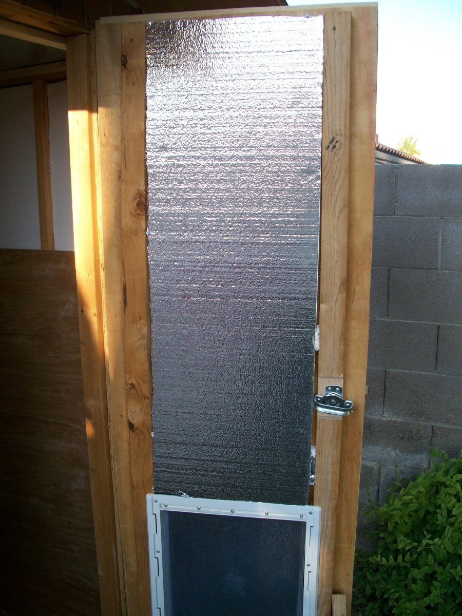 Insulation in the upper portion of the door