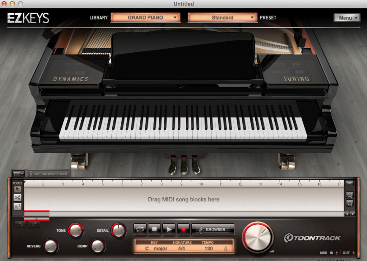 The Standard EZKeys Grand Piano Interface