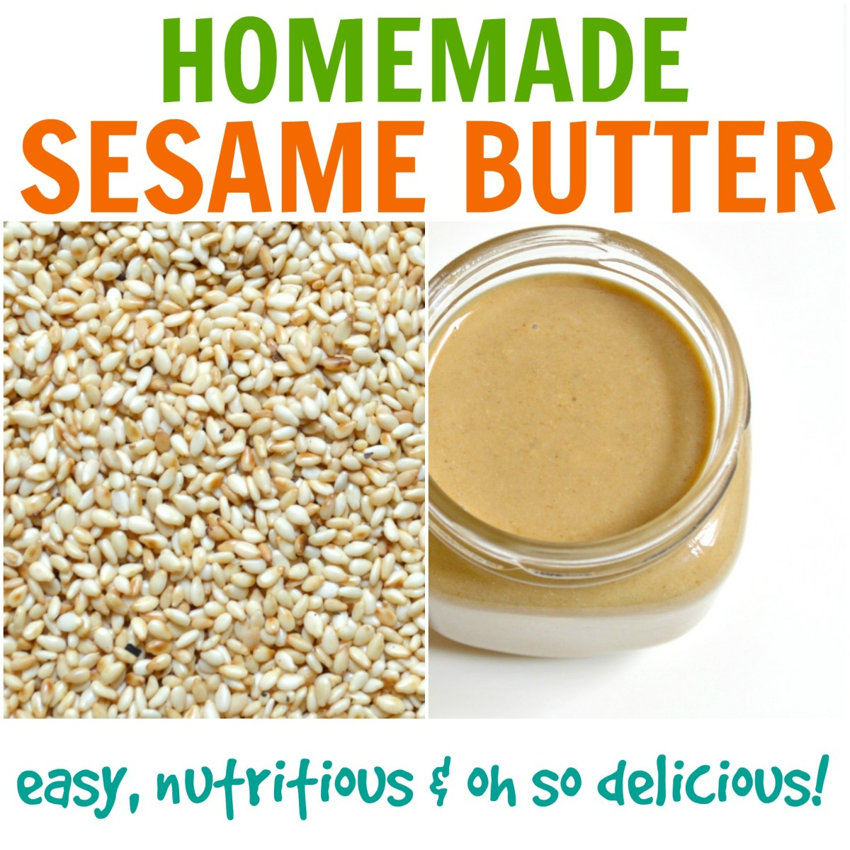 How to Make Sesame Butter at Home