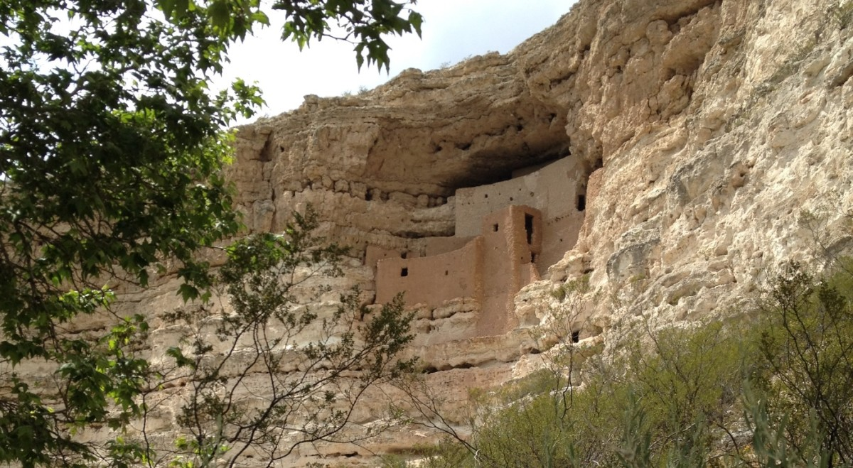 Montezuma Castle is located in an Alcove below top of Cliff