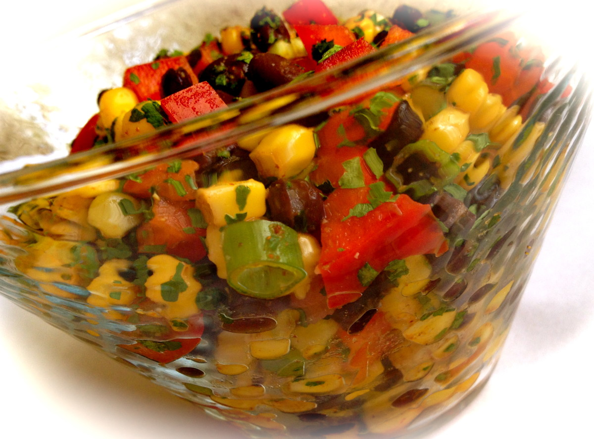 Corn, Red Pepper, & Black Bean Salad